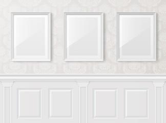 White vintage interior with