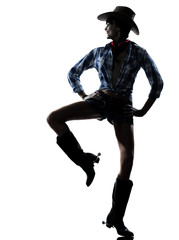 woman cow girl dancer happy dancing country music