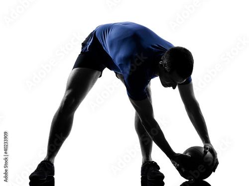 Wall mural man exercising workout