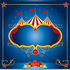 Circus blue leaflet