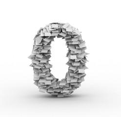 Big pile of paper number 0 symbol