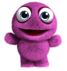 Printed roller blinds Sweet Monsters violet monster