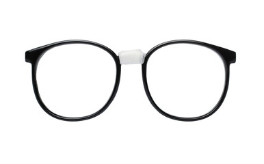 Nerd glasses isolated on white background with clipping path