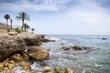 Mediterranean coastline at Alicante, Spain