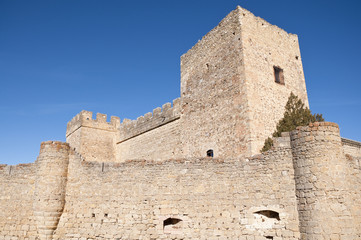 Detail of walls of Castle of Pedraza, Segovia, Spain