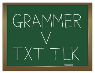Grammar versus texting.