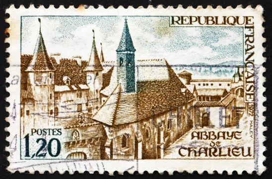 Postage stamp France 1972 Charlieu Abbey, Charlieu, France