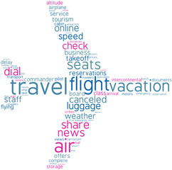aeroplane tag cloud shape