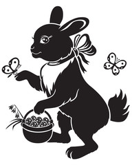 Hare with basket