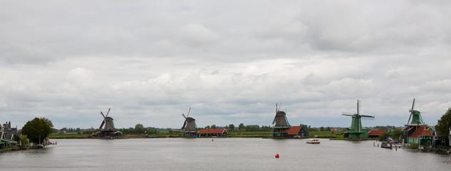 Kinderdijk Dutch Windmill Landscape