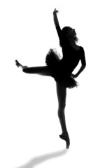 Female Ballerina in Studio