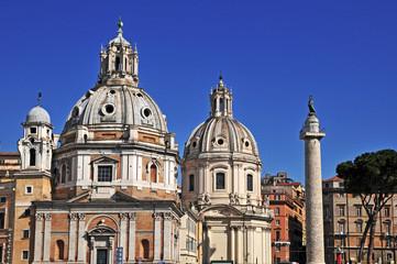 Roma, Colonna Traiana e chiese  Nome di Maria e Loreto