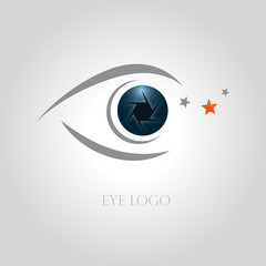 logo photographe, logo oeil