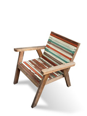 Old color wood arm chair