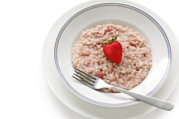 strawberry risotto, italian cuisine