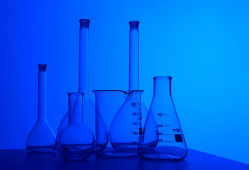 Chemistry laboratory equipment and glass tubes