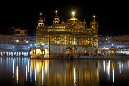 Golden Temple at night, Amritsar, India