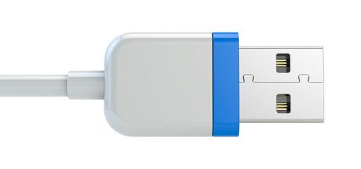 usb plug isolated on white