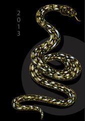 snake celebrating christmas