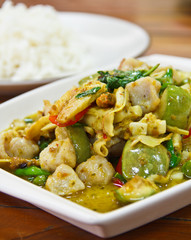 curry with rice,thai food.