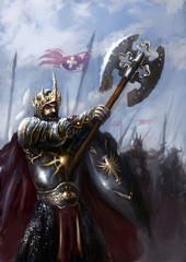 Foto op Canvas Ridders battlefield