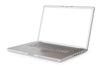 Laptop with clipping path for screen