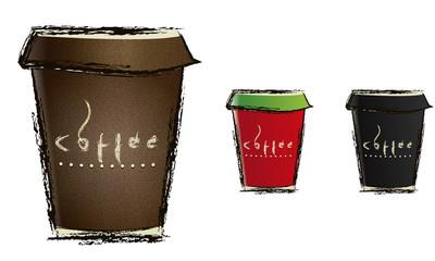 бумажный стакан для кофе в векторе