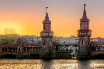 Sonnenuntergang an der Oberbaumbrücke - 04