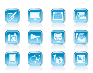 Communication channels and Social Media icons