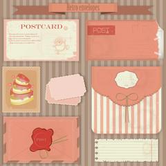 Vintage post set - Retro envelopes and postcards