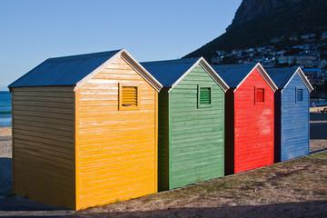 Four beach huts