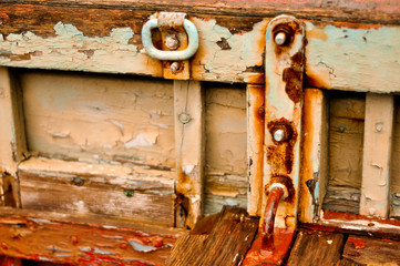 Texture of rusted boat