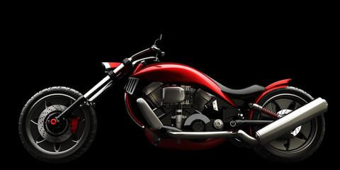 concept motorcycle isolated on black background