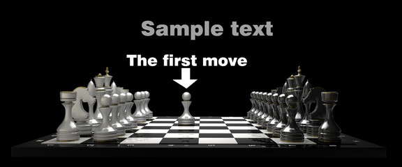 Chess on black blackboard High resolution