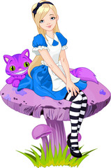Canvas Prints Magic world Alice in Wonderland