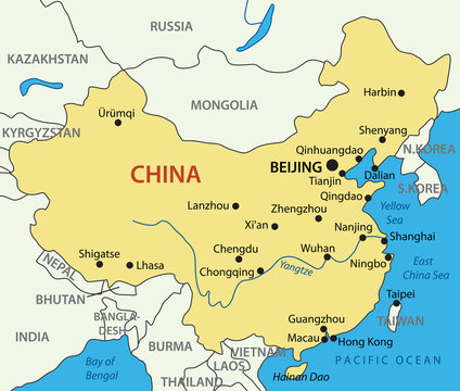 People's Republic of China - vector map