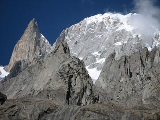 Peaks of the Karakorum mountains near Karimabad