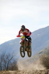 Fototapete - motocross - salto