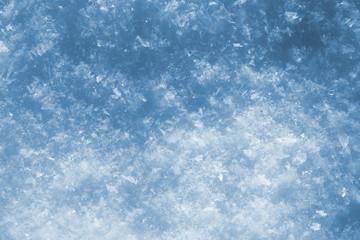 blue snow as nice christmas background