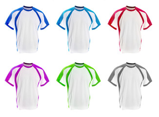set of colorful T-shirts