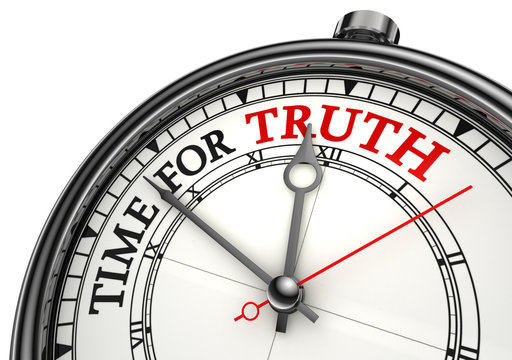 time for truth concept clock