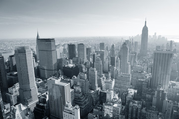 Wall Mural - New York City skyline black and white
