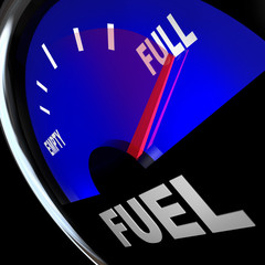 Fuel Gauge Needle Points to Full Gas Tank