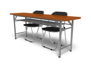 長机とパイプ椅子