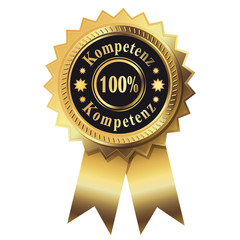 100% Kompetenz - Gold Button