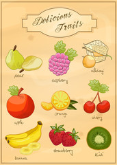 Delicious Fruits - Vector Set