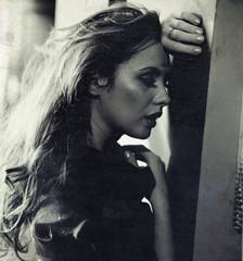 Nostalgic photo of a sad woman