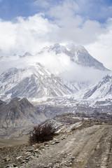 Trekking road in Nepal