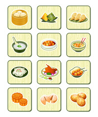 Chinese food icons | BAMBOO series