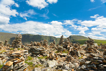 Mountain Altai. A beautiful landscape with stones